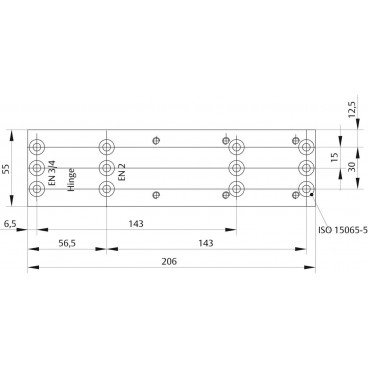 Монтажная пластина ASSA-ABLOY A161 black для доводчика, модель - DC140