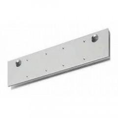 Монтажная пластина ASSA-ABLOY A166 silver для DC336/500/700 (двери из стекла), серебристая