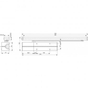 Кулачковый доводчик ASSA-ABLOY DC700DA silver (CAM Motion), усилие EN3-6
