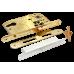Замок с ригелем под ключевой цилиндр Morelli L1885 PG золото