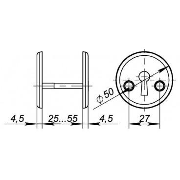 Декоративная накладка Fuaro ESC-S-001-WH на сувальдный замок (белый)
