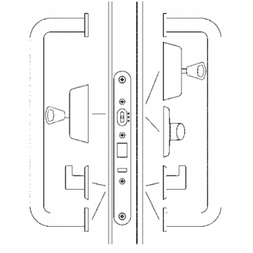 Врезной механический замок Abloy LC302