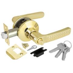 Ручка защелка Punto 6026 PB-E (кл./фик.) золото