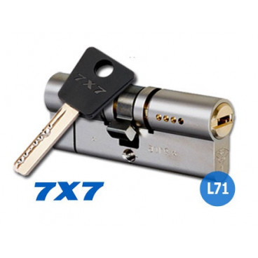 Механизм цилиндровый Mul-T-Lock Cylinder 7х7 (31x50) кл/кл Никель
