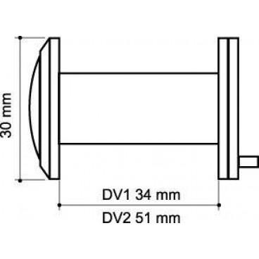 Глазок дверной Armadillo DV2 GP