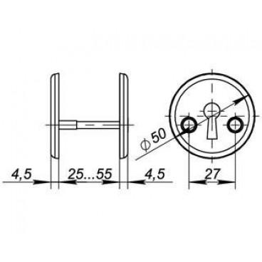 Декоративная накладка ESC-S-001-CP