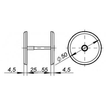 Декоративная накладка ESC-001-CP заглушка (хром)