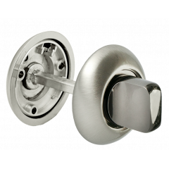 Завертка сантехническая Morelli MH-WC SN белый никель/черный никель