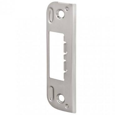 Ответная планка 045 для дверей без притвора к замкам Fuaro 2018 и 2014 WC/S-SN (матовый никель)