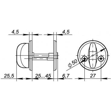 Ручка поворотная Fuaro WC-001-SN (матовый никель)