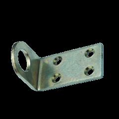 Проушина с загибом для навесного замка 40x75 (цинк белый)