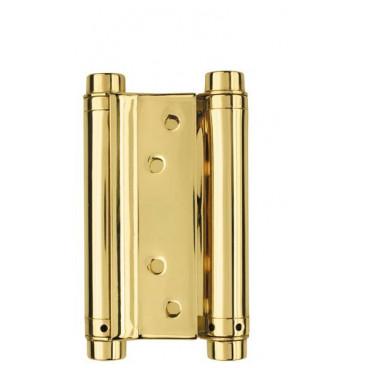 Петля пружинная двусторонняя DAS SS 201-4 (100*70*1.5) GP Золото