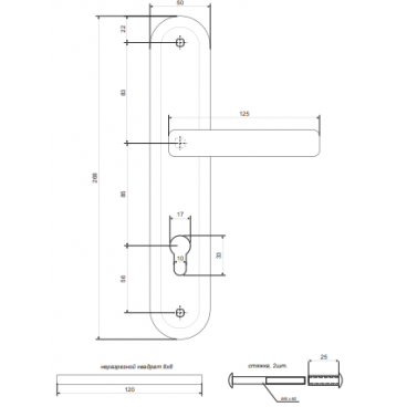 Ручки на планке Avers HP-85.0423-CR