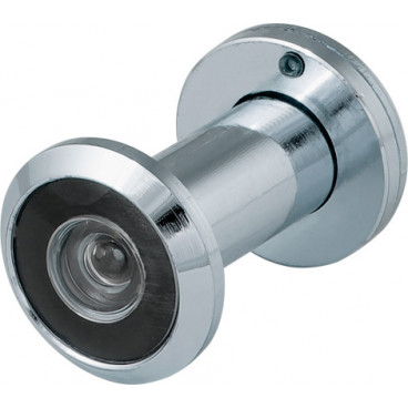 Дверной глазок Fuaro DVZ1, 16/200/35x60 (оптика пластик, угол обзора 200) CP Хром