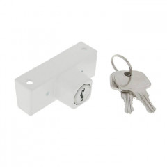 """Замок безопасности """"детский"""" накладной WINDOORPRO, с ключом (2 ключа), в блистере, белый"""