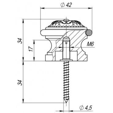 Упор дверной Fuaro DS SM01 AS-3 античное серебро