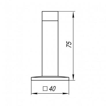 Упор дверной Punto DS PW-75 CP-8 хром