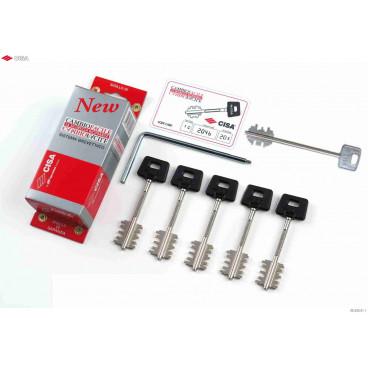 Комплект ключей для кодирования New Cambio 06.520.51.1, (5 ключей 00162)