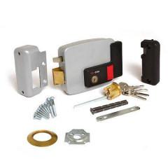 Замок накладной электромеханический Cisa 11.630.60.4 (тип 4) ключ, кнопка, лев. откр. двери наружу