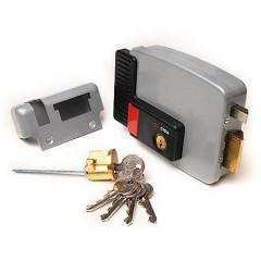 Замок накладной электромеханический Cisa 11.630.60.1 (тип 1) ключ, кнопка, прав. откр. двери внутрь
