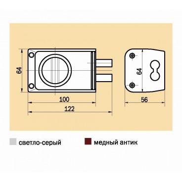 Накладной замок Просам 88400-ЗНД-1А