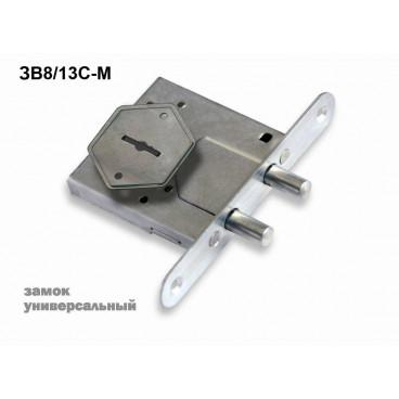 Замок врезной ЗВ8-4С/13 (2 риг) /76610/