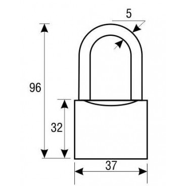 Замок навесной Аллюр ВС1Ч-340Д КА (с одной секретностью)