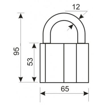 Замок навесной Аллюр ВС2-1С (AL-770)