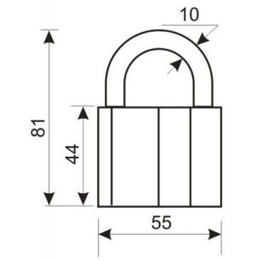 Замок навесной Аллюр ВС2-27КА (с одной секретностью) тип 1