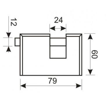 Замок навесной Аллюр ВС2-3-01С (НВХ-980)