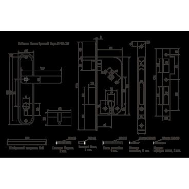 Замок врезной Нора-М 126-70мм (хром)