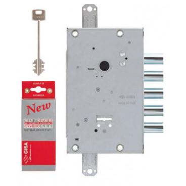 Замок врезной сувальдный CISA NEW CAMBIO FACILE 57.655.48 (тех. упаковка), ключ 64 мм