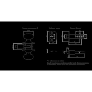 Защелка Нора-М Н-01 (мат.никель)