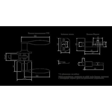 Защелка Нора-М ТТ12-03 (ст.медь)