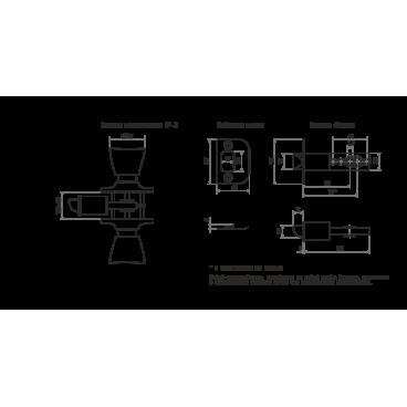 Защелка Нора-М ЗР-05 (белая)