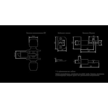 Защелка Нора-М ЗР1-01 (ст. бронза)
