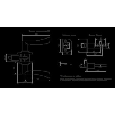 Защелка Нора-М ЗВ2-01 (мат.никель)