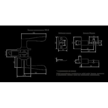 Защелка Нора-М ЗВ3-03 ЭКО (мат.золото)