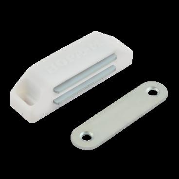 Защёлка магнитная Нора-М №2 (58мм) (белая)