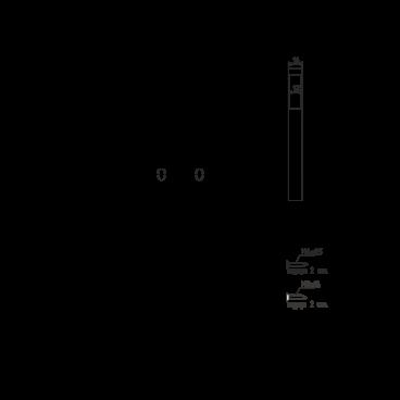 Защелка межкомнатная Нора-М магнит. 13М-90 мм (хром)